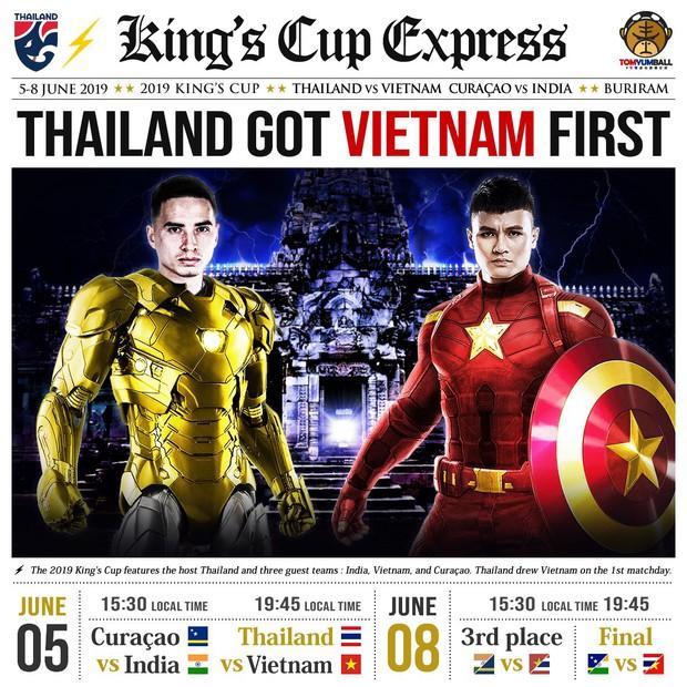 Fan Trung Quốc hô biến Quang Hải thành Captain Việt Nam đấu Iron man Thái Lan cực chất - Ảnh 1.