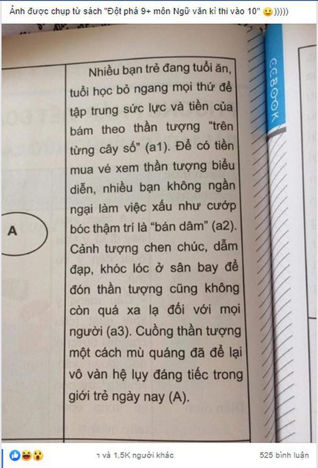 """Sách tham khảo môn Văn viết fan K-Pop """"bán dâm"""" để kiếm tiền mua vé concert khiến dân mạng phẫn nộ tột độ - Ảnh 2."""
