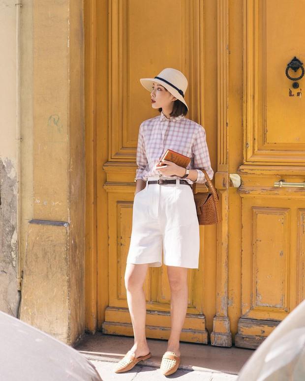 Nóng quá thì nàng công sở cứ mạnh dạn diện quần shorts nhưng để bảo toàn sự tinh tế, hãy tham khảo vài tips sau - Ảnh 3.