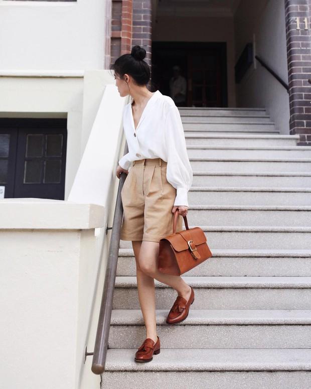Nóng quá thì nàng công sở cứ mạnh dạn diện quần shorts nhưng để bảo toàn sự tinh tế, hãy tham khảo vài tips sau - Ảnh 5.