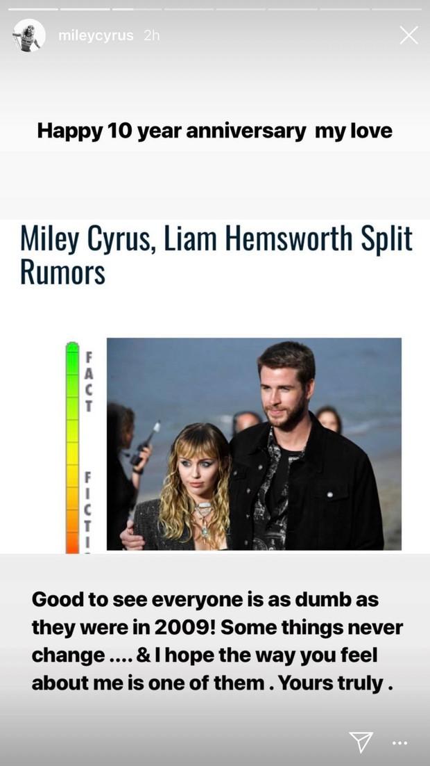Đang yên đang lành bị đồn chia tay Liam, Miley Cyrus đích thân đá xéo và đáp trả bằng cách khiến ai cũng ghen tị - Ảnh 2.