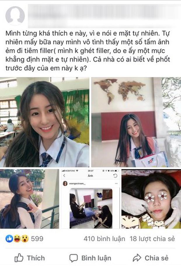 """Bị """"bóc phốt"""" đi tiêm filler và lộ bảng điểm kém khi sắp thi ĐH, Võ Ngọc Trân - nữ sinh nổi tiếng Sài Gòn lên tiếng giải thích - Ảnh 3."""