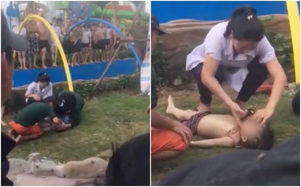 Bé trai 3 tuổi bị đuối nước tại Công viên nước Thanh Hà đã tử vong - Ảnh 1.