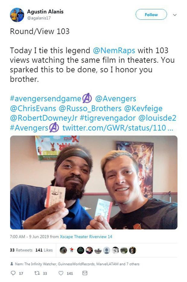 Fan Marvel phá kỷ lục Guinness nhờ 110 lần ra rạp xem Endgame - Ảnh 2.