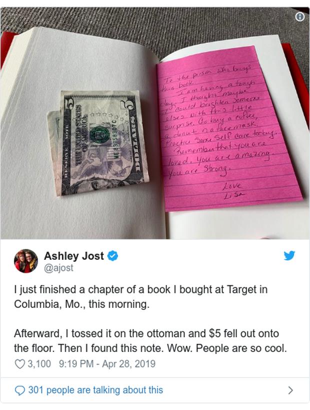 Bằng tờ 5 đô la và vài dòng nhắn gửi, một cô gái đã vô tình lan tỏa lòng tốt đến hàng ngàn người khiến cộng đồng mạng xúc động - Ảnh 4.