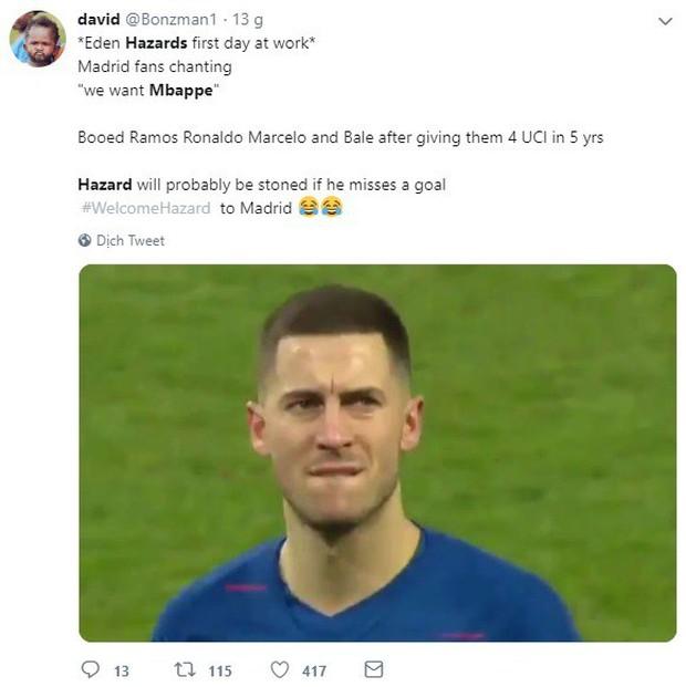 Có Eden Hazard nhưng vẫn muốn Mbappe, CĐV Real Madrid bị cả cộng đồng bóng đá mạt sát - Ảnh 2.