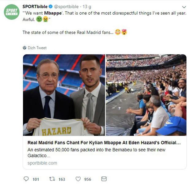 Có Eden Hazard nhưng vẫn muốn Mbappe, CĐV Real Madrid bị cả cộng đồng bóng đá mạt sát - Ảnh 4.