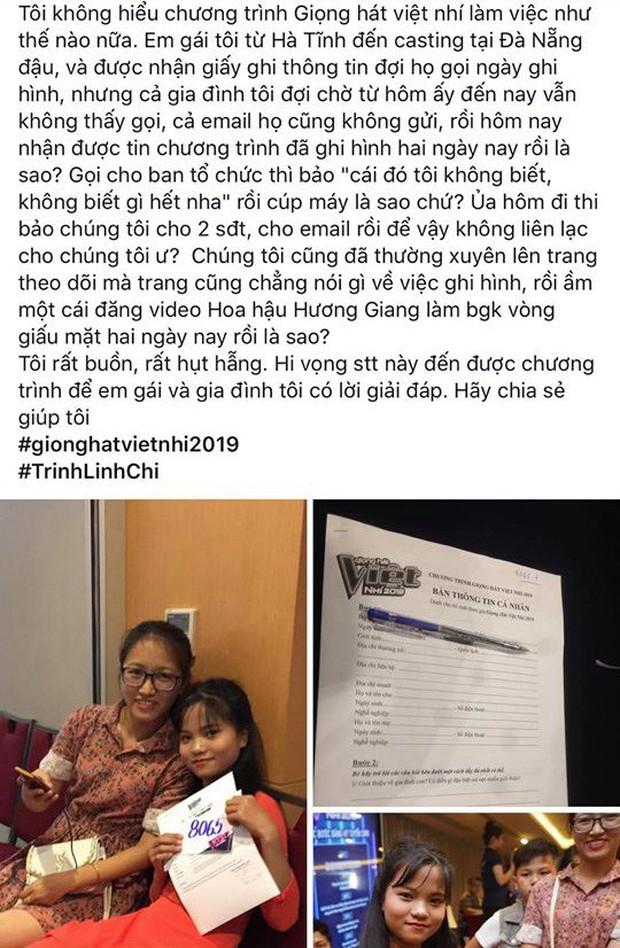 Giọng hát Việt nhí 2019 bị tố âm thầm ghi hình, không thèm báo kết quả cho thí sinh - Ảnh 3.