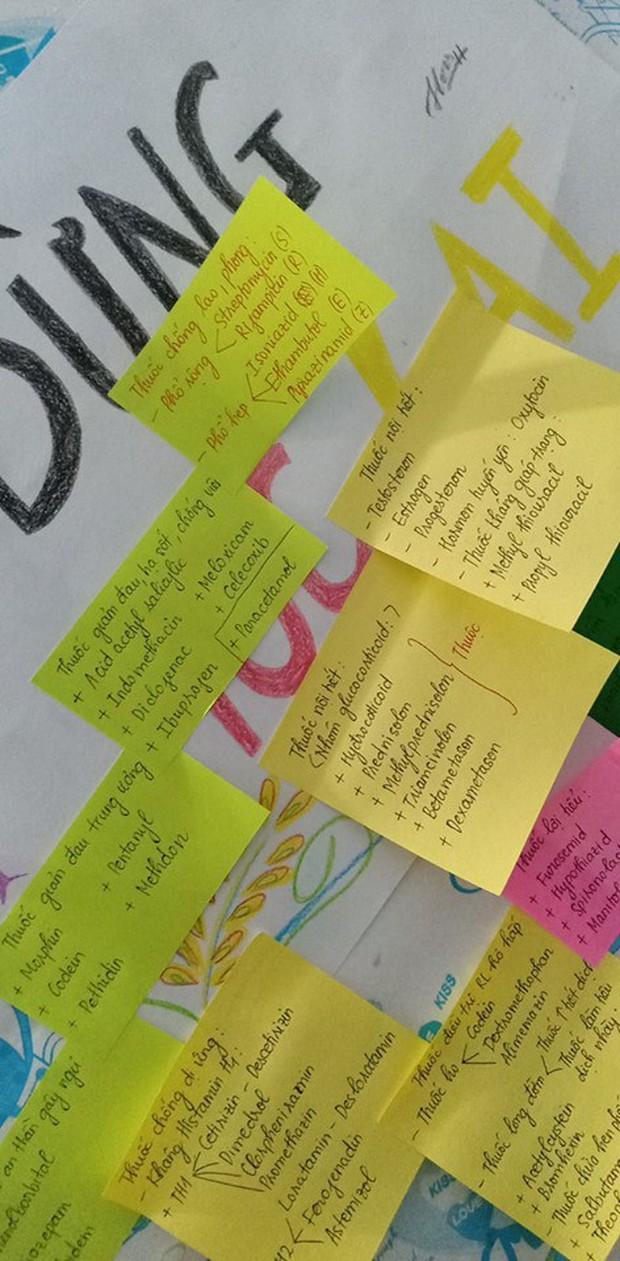 Học sinh đua nhau khoe giấy ghi nhớ dán kín tường mùa ôn thi: Việc học chưa bao giờ căng thẳng đến thế - Ảnh 3.