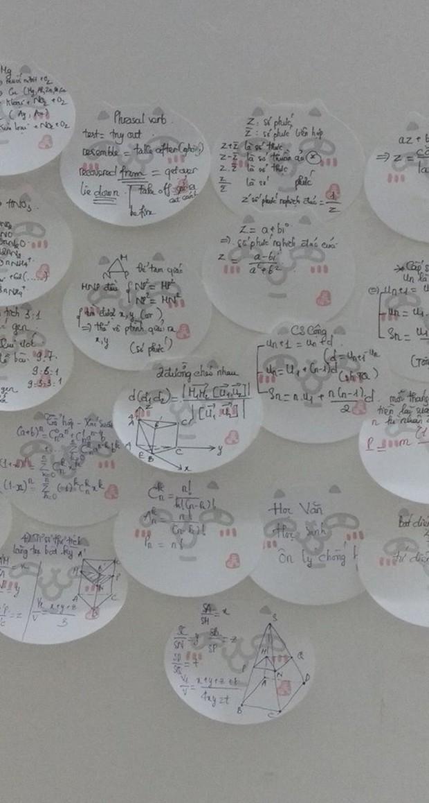 Học sinh đua nhau khoe giấy ghi nhớ dán kín tường mùa ôn thi: Việc học chưa bao giờ căng thẳng đến thế - Ảnh 6.