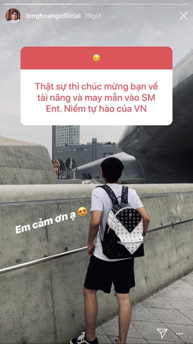 Fan chúc mừng được vào SM Entertainment, Long Hoàng phản ứng khiến ai cũng thắc mắc: Đã trở thành thực tập sinh hay rốt cuộc chỉ đi dự trại hè? - Ảnh 2.