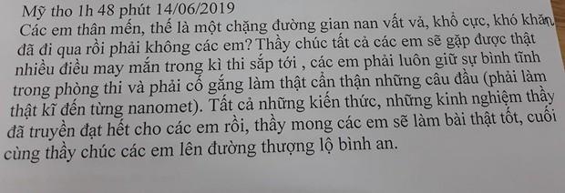 Tâm thư thầy giáo Tiền Giang gửi cho học trò lớp 12: Kiến thức thầy truyền đạt hết rồi, việc còn lại là của các em... - Ảnh 1.