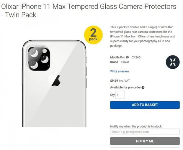 iPhone XI được xác nhận trông như thế này: Cụm camera sau hình vuông, vẫn có màn hình tai thỏ - Ảnh 1.