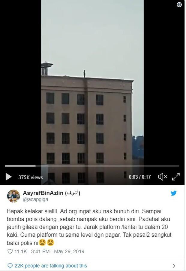 Xôn xao người đàn ông đứng trên sân thượng sắp nhảy lầu tự tử nhưng câu chuyện đằng sau lại hoàn toàn không như mọi người nghĩ - Ảnh 2.