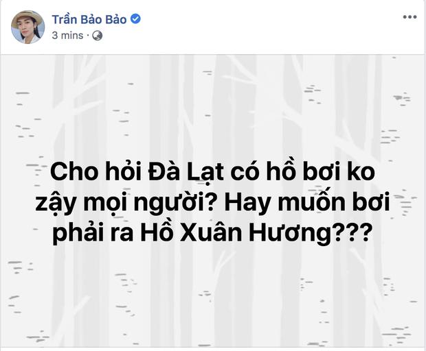 Chỉ hỏi một câu thôi mà BB Trần nhận về toàn gợi ý xéo xắt: Tập bơi ra hồ Than Thở, rửa nghiệp thì trầm mình xuống hồ Tuyền Lâm - Ảnh 1.