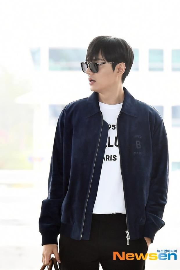 Lee Min Ho ra sân bay thôi mà quá sức bảnh bao, nhưng không giấu nổi sự tăng cân và bờ môi khô nứt nẻ - Ảnh 3.