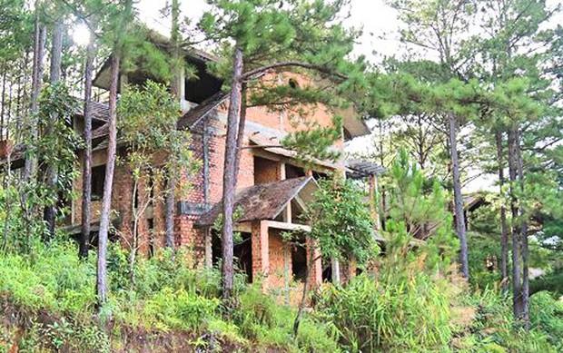Hàng chục biệt thự nghỉ dưỡng trên đồi thông Đà Lạt bị bỏ hoang nhiều năm, xuống cấp nghiêm trọng - Ảnh 6.