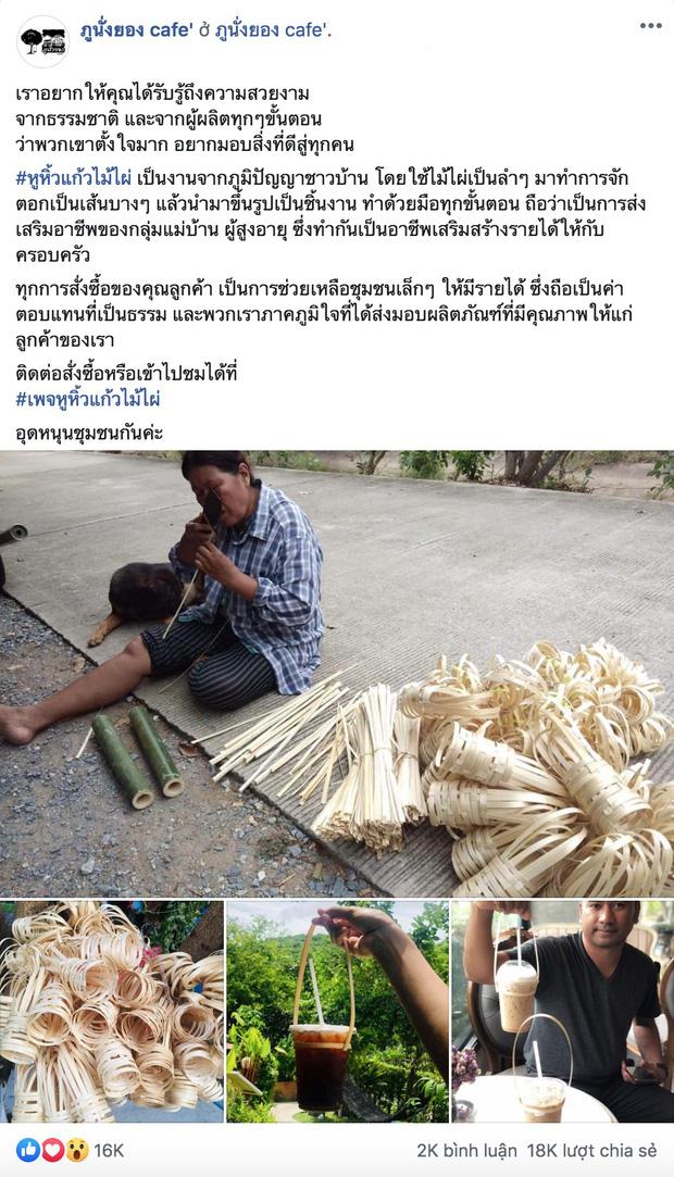 Xuất hiện quai xách ly bằng tre bảo vệ môi trường ở Thái Lan và ý nghĩa nhân văn không ngờ phía sau - Ảnh 1.