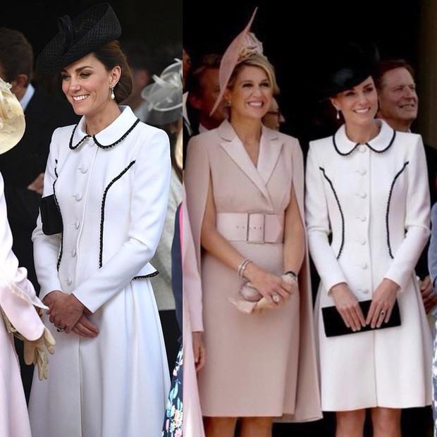Cuộc đọ style Hoàng gia gay cấn: Trong khi Công nương Kate vẫn giữ hình ảnh cũ thì Hoàng hậu Letizia lại gây bất ngờ - Ảnh 4.