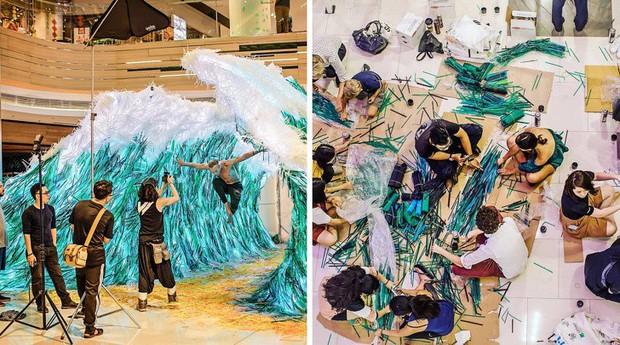 Từ rác thải nhựa trên khắp thế giới, nghệ sĩ thị giác đã biến chúng thành những tác phẩm nghệ thuật khiến ai cũng phải xuýt xoa trầm trồ - Ảnh 6.
