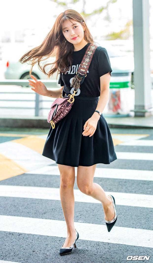 Taeyeon gây choáng với nhan sắc đỉnh đến mức lấn át cả nữ thần Suzy, Irene đẹp bất chấp bên Red Velvet tại sân bay - Ảnh 6.