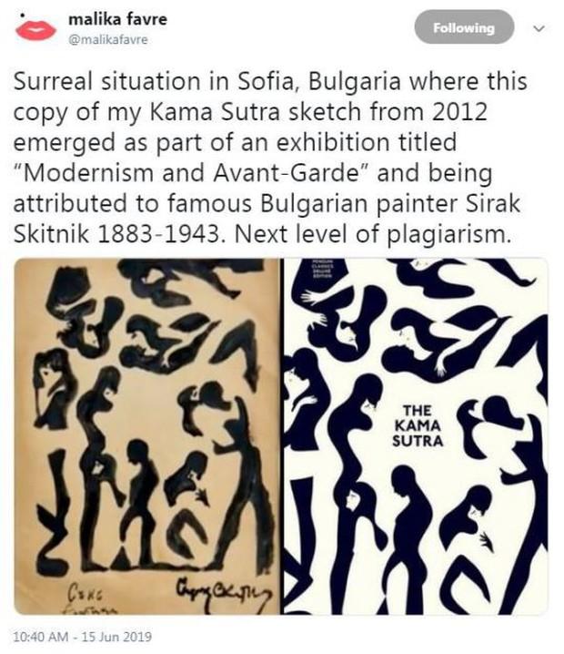 Hoạ sĩ thấy tranh của mình ở bảo tàng nhưng khi xem tên tác giả thì mới nhận ra điều bất ngờ - Ảnh 1.