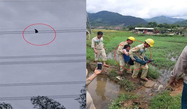 Nhân chứng kể phút toát mồ hôi hột giải cứu nam thanh niên ngồi vắt vẻo trên đường điện cao gần 100m - Ảnh 1.