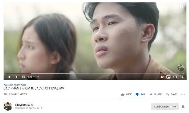 Jack vượt qua thành tích cũ của Sơn Tùng, chính thức có MV đạt 100 triệu views nhanh thứ hai trong lịch sử Vpop - Ảnh 1.