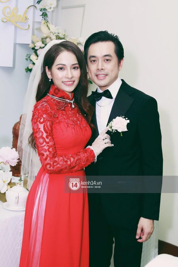 Dương Khắc Linh không giấu được hạnh phúc, Ngọc Duyên thay trang phục liên tục trong lễ rước dâu sáng nay  - Ảnh 13.