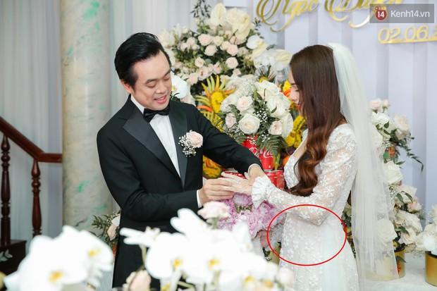 Ngọc Duyên - bà xã Dương Khắc Linh lộ vòng hai lớn bất thường trong lễ rước dâu - Ảnh 1.