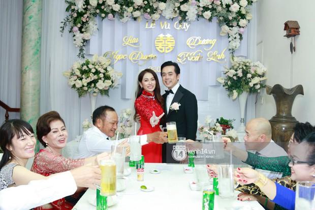 Dương Khắc Linh không giấu được hạnh phúc, Ngọc Duyên thay trang phục liên tục trong lễ rước dâu sáng nay  - Ảnh 12.