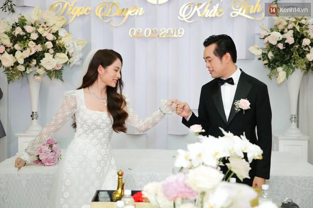 Ngọc Duyên - bà xã Dương Khắc Linh lộ vòng hai lớn bất thường trong lễ rước dâu - Ảnh 2.