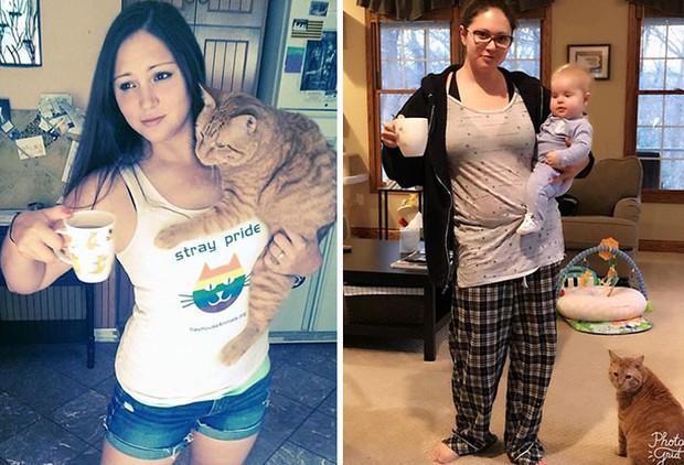Hình ảnh trước và sau khi làm cha mẹ của các dân chơi sẽ cho bạn thấy việc nuôi con khắc nghiệt đến mức nào - Ảnh 12.