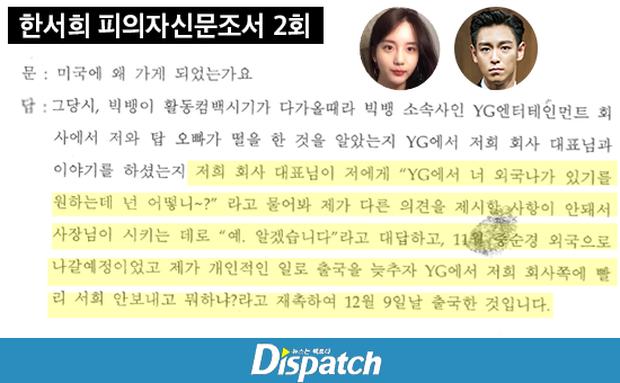 Dispatch khui lại bê bối cần sa: Lộ tin nhắn T.O.P rủ rê bạn gái, YG dùng thủ đoạn ép cô sang Mỹ để Big Bang comeback - Ảnh 10.