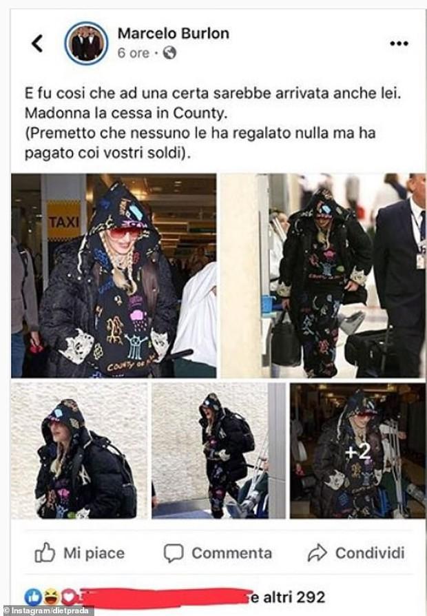 Đã bỏ tiền ra mua đồ để mặc thì chớ, Madonna còn bị chính NTK chửi là cái toilet di động - Ảnh 3.