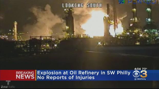 Hiện trường nhà máy lọc dầu tại Nam Philadelphia phát nổ thành quả cầu lửa - Ảnh 3.