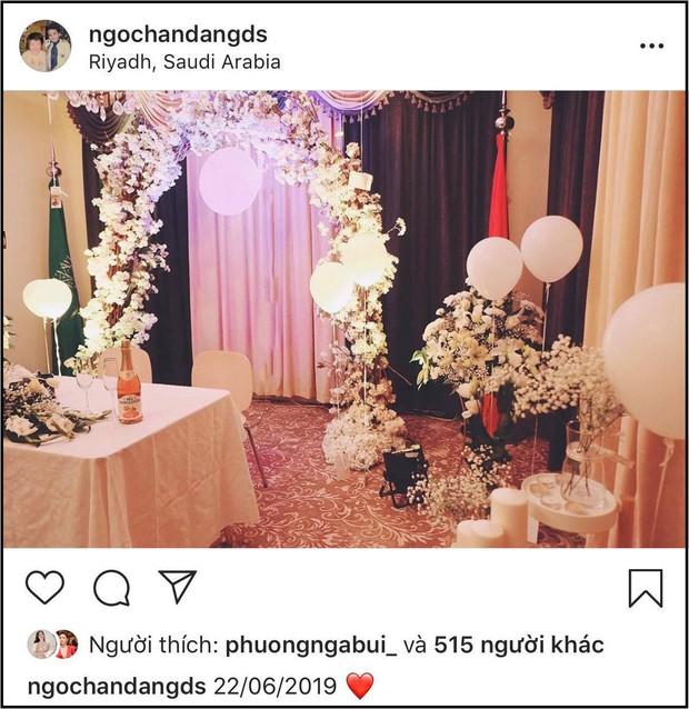 Chỉ vì một bức ảnh, Hoa hậu Ngọc Hân lập tức bị nghi đã bí mật tổ chức tiệc đính hôn - Ảnh 1.