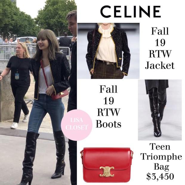 10 điểm cho set đồ lẫn makeup của Lisa, hoàn hảo đến độ dư sức chặt đẹp sao quốc tế tại show Celine - Ảnh 4.
