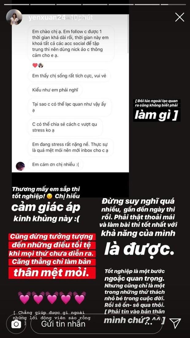 Bất ngờ nhận được lời thỉnh cầu từ fan, bạn gái Lâm Tây đã khuyên gì cho các sĩ tử thi THPT Quốc gia? - Ảnh 1.