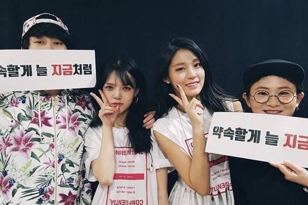 11 hội bạn thân sao Hàn khác giới đình đám: V (BTS) quen minh tinh hơn 17 tuổi, Heechul như thánh thu thập mỹ nhân - Ảnh 23.