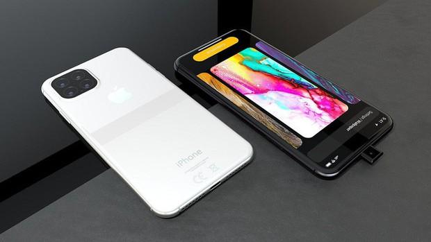 Ngắm concept iPhone 11 Pro nóng hổi hấp dẫn: Camera selfie thò thụt độc đáo, 4 camera sau hình vuông - Ảnh 1.