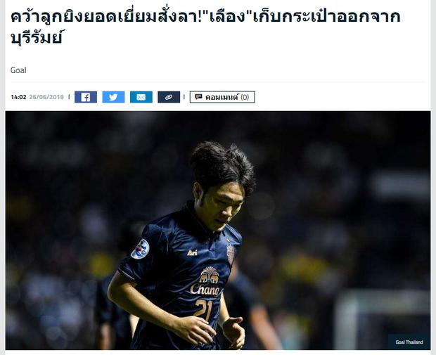 Nóng: Buriram United chấm dứt hợp đồng với Lương Xuân Trường - Ảnh 1.