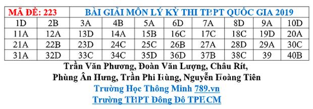 Đáp án đề thi môn Vật lý THPT quốc gia 2019 (tất cả 24 mã đề) - Ảnh 7.