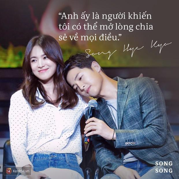 Loạt câu nói ngôn tình của Song Joong Ki và Song Hye Kyo: Bao lời hứa bên nhau trọn đời nay còn đâu? - Ảnh 12.