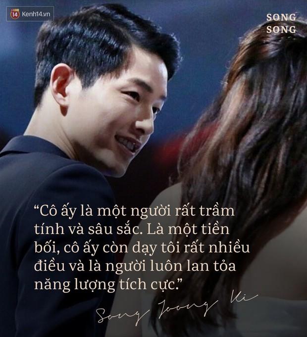 Loạt câu nói ngôn tình của Song Joong Ki và Song Hye Kyo: Bao lời hứa bên nhau trọn đời nay còn đâu? - Ảnh 10.