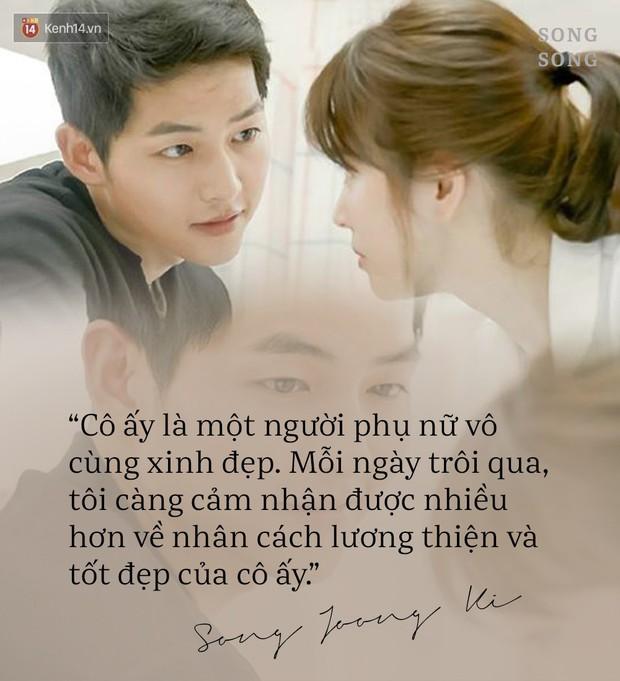Loạt câu nói ngôn tình của Song Joong Ki và Song Hye Kyo: Bao lời hứa bên nhau trọn đời nay còn đâu? - Ảnh 9.
