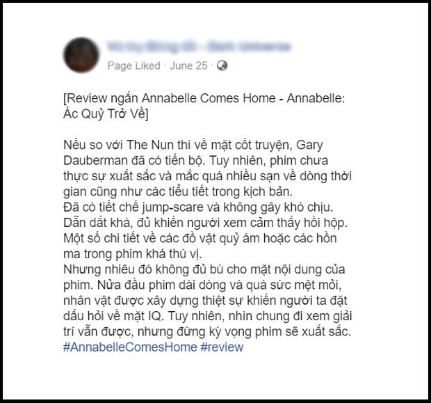 Khán giả Việt ngán ngẩm với Annabelle: Chỉ mong ai đó độ búp bê ma cho xong - Ảnh 8.