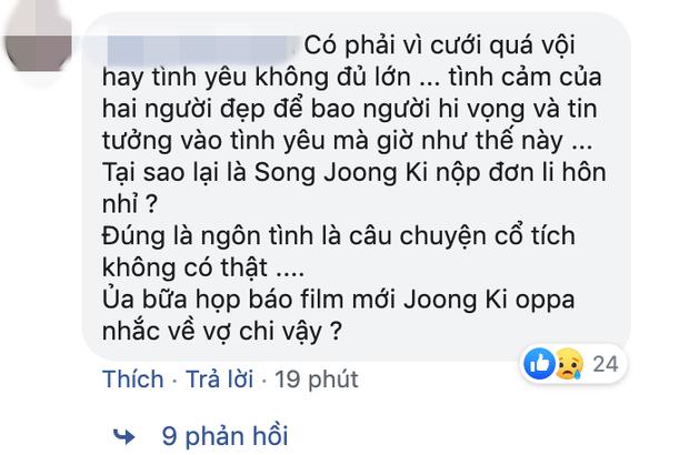 Phản ứng của netizen Hàn, Việt về tin Song Song ly hôn: Dân Hàn đồng loạt đổ lỗi cho Song Hye Kyo - Ảnh 7.