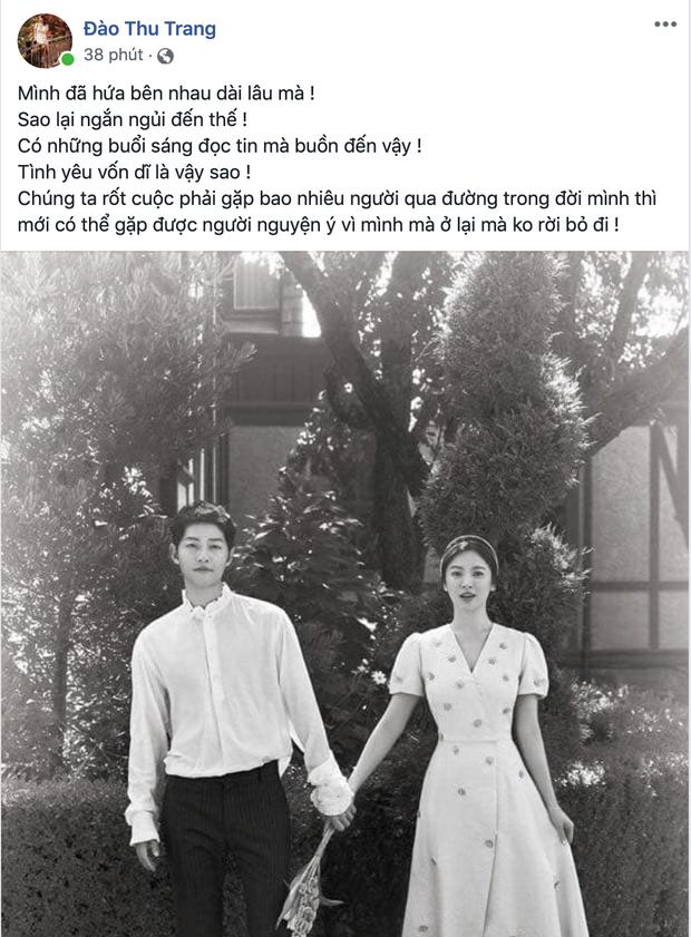 Dân mạng Việt sốc trước tin Song - Song ly hôn: Động lực để yêu và cưới của tôi tan tành rồi! - Ảnh 9.