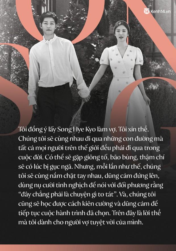 Loạt câu nói ngôn tình của Song Joong Ki và Song Hye Kyo: Bao lời hứa bên nhau trọn đời nay còn đâu? - Ảnh 1.